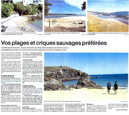 article plages