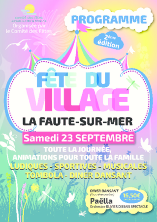 programme fête du village 2017 red
